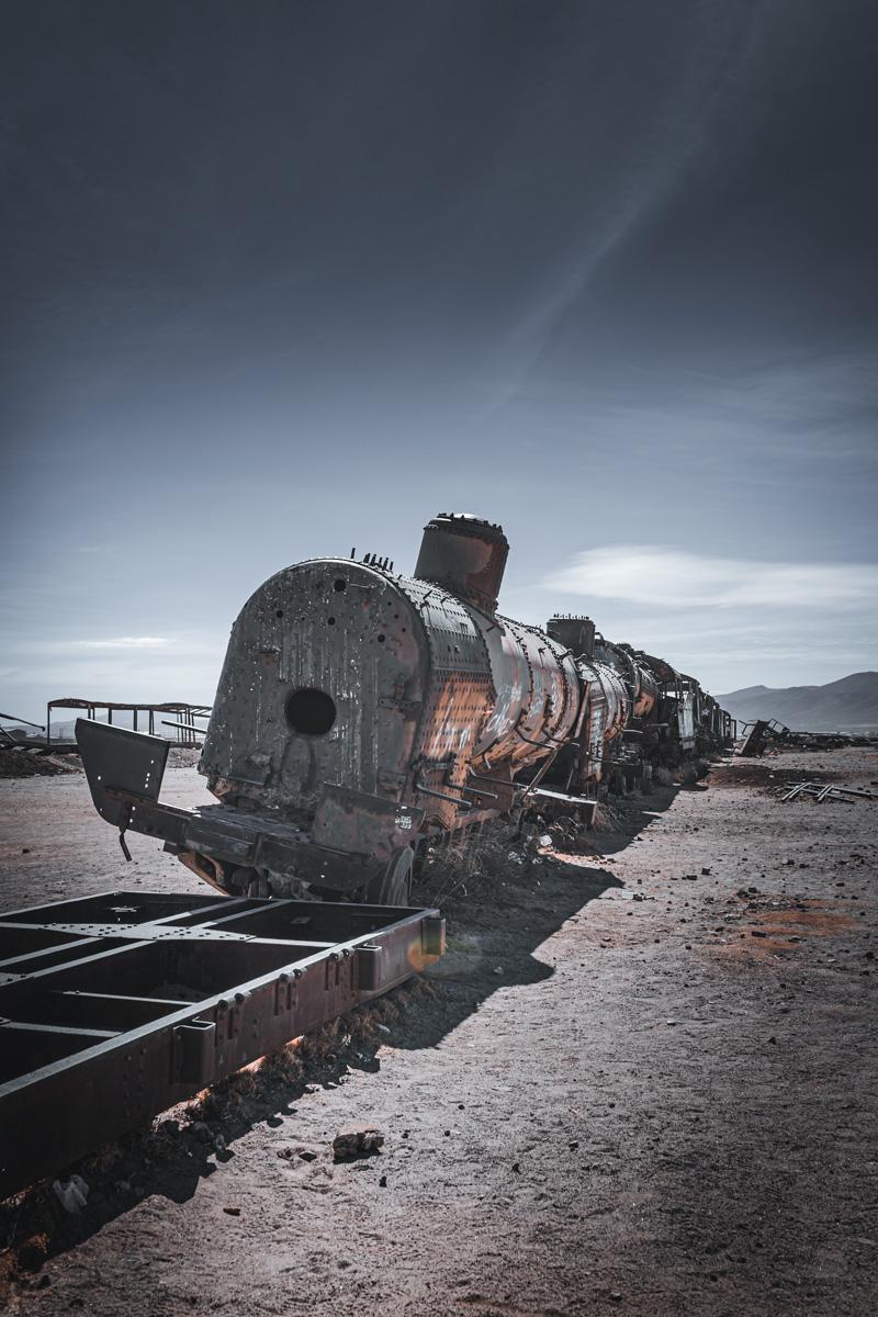 El cementerio de los trenes olvidados de Uyuni